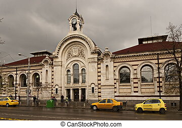 ou, fonctions, aujourd'hui, était, marché, sofia, ouvert, 1911, ancien, salle, central, bulgare