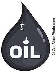 ou, goutte, pétrole, huile