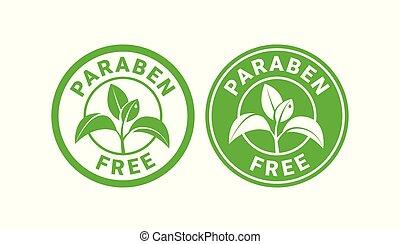ou, gratuite, signe, paraben, timbre, symbole.