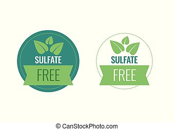 ou, gratuite, signe, timbre, symbole., sulfate