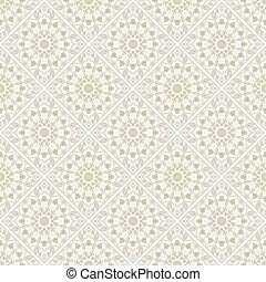 ou, impression, texture, arabe, vector., motifs., pattern., ...