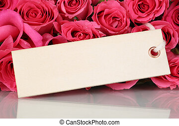 ou, jour, fleurs, carte, roses, mère, salutation, valentine