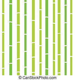 ou, modèle, naturel, texture, retro, seamless, -, vert, bambou, &, blanc