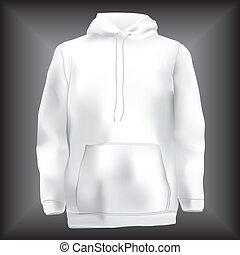 ou, modelo, hoodie, jacke, sweatshirt