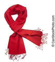 ou, pashmina, echarpe, vermelho