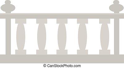 ou, pierre, balustrade, metal., vendange, fait, architectural, gypse