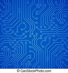 ou, planche, microchip., circuit, vecteur