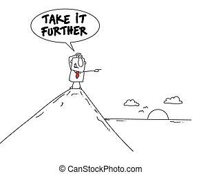 ou, prendre, il, plus loin, développement, soi, concept