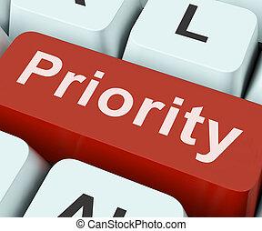 ou, primauté, priorité, clã©, importance, plus grand, moyens