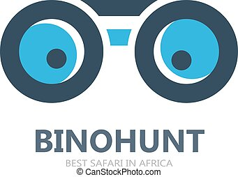 ou, símbolo, logotipo, ícone, vetorial, binocular
