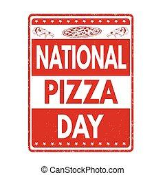 ou, sinal, selo, pizza, dia