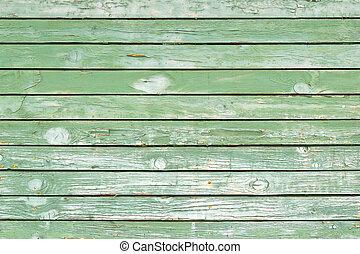 ou, texture, vieux, bois, mur, -, fond, vert, peint