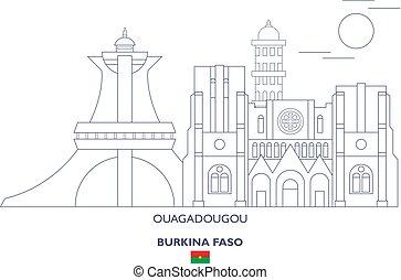 Ouagadougou City Skyline, Burkina Faso - Ouagadougou Linear...