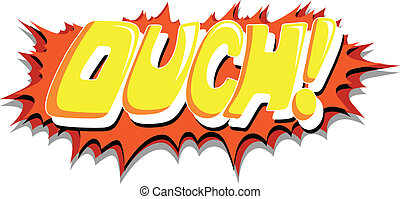 Ouch - Comic Expression Vector Text