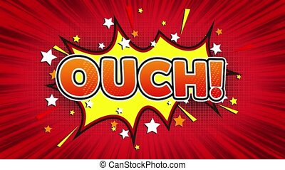 Ouch Text Pop Art Style Comic Expression. - Ouch! Text Pop...