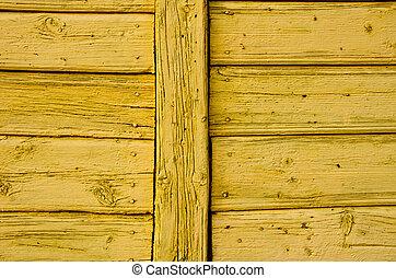 oud, achtergrond., houten, geverfde, architecturaal, muur