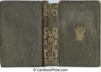 oud, antieke , papier, van, een, boek, of, opmerking blok, leeg, retro, achtergrond