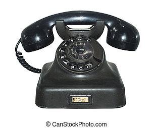 oud, antieke telefoon, vrijstaand