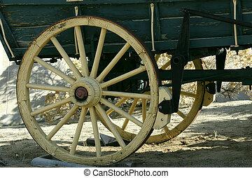 oud, antieke , wagon wiel