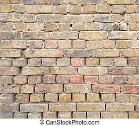 oud, baksteen muur, achtergrond