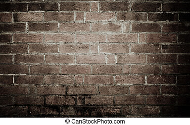 oud, baksteen muur, achtergrond, textuur