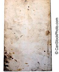 oud, bevlekte, papier
