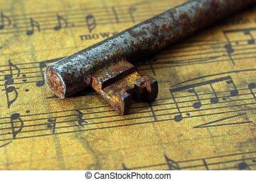 oud, blad, klee, muziek