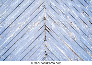 oud, bleu, geverfde, grunge, en, armoedig, hout, achtergrond