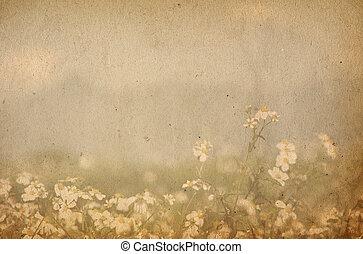 oud, bloem, papier, texturen, -, perfect, achtergrond, met,...