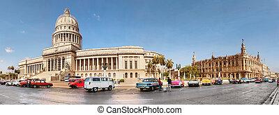 oud, capitool, straten, in het oog krijgen, cuba-may, stad,...