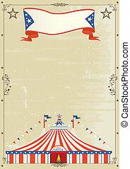oud, circus, grunge, poster