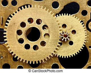 oud, closeup, toestellen, mechanisme