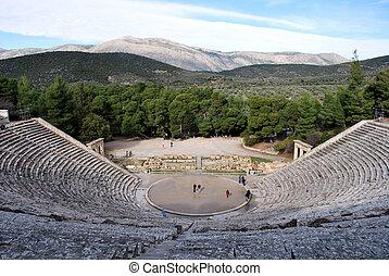 oud, epidaurus, theater, griekenland