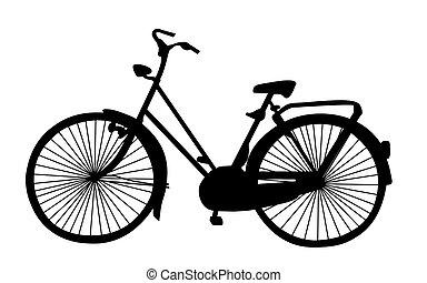 oud, fiets