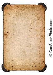 oud, foto, papier, corner., leeg blad, oud, kaart