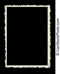 oud, fotokader, vrijstaand, black , scalloped
