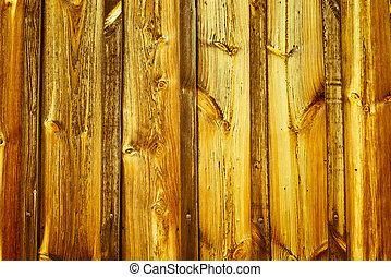 oud, gele, houten muur, achtergrond