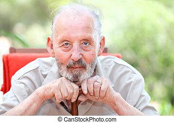 oud, gezonde , leeftijd, senior, vrolijke , man