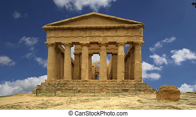 oud, griekse , tempel van concordia