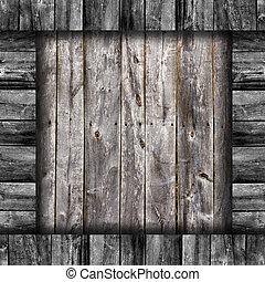 oud, grijs, omheining, raad, hout samenstelling