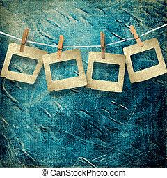 oud, grunge, dia's, op, de, abstract, papier, achtergrond