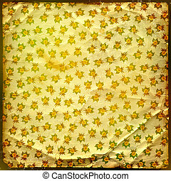 oud, grunge, goud, ornament, achtergrond, floral
