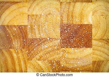 oud, grunge, houten, holle weg, keuken, bureau, plank, achtergrond, textuur
