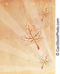 oud, herfst, papier, retro, achtergrond, beige