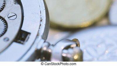 oud, horloges, mechanisch