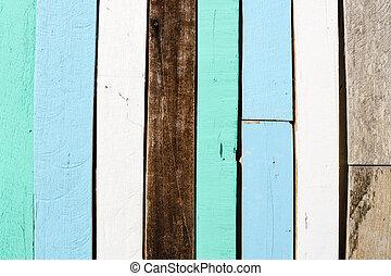 oud, hout, om te, een, muur, achtergrond, textuur