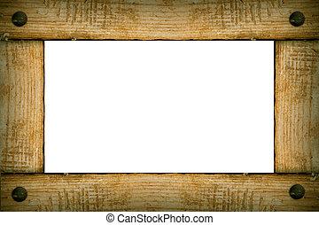 oud, houten, achtergrond, frame