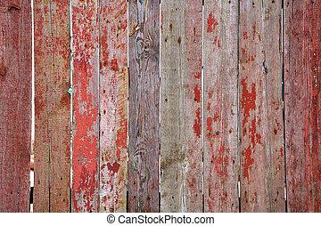 oud, houten hek
