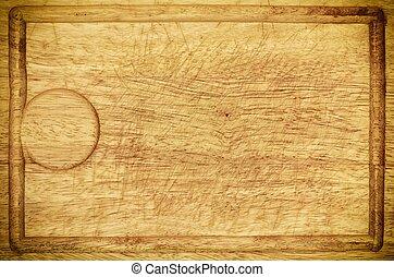 oud, houten, keuken, bureau, plank, achtergrond, textuur
