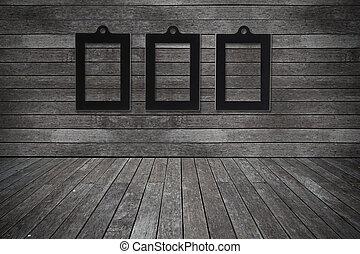 oud, kamer, fotokader, textuur, hout, achtergrond, grunge